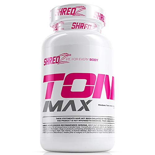 SHREDZ Toner Max Supplement Pills for Women, Lean Muscle, No Bloating, Boosts Endurance and Enhances Recovery (30 Day Supply)