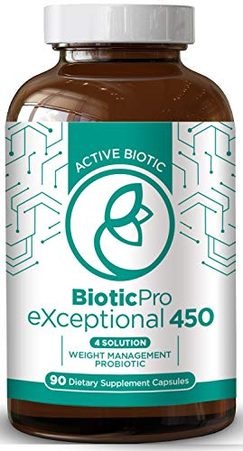 Biotic Pro Exceptional 450 | Weight Management x4 in 1 Solution | Probiotic Bio Dietary Supplement Digestive Enzymes | Green Tea Extract | Arctic Biotic | Natural & Non-GMO | 90 Vegetarian Capsules