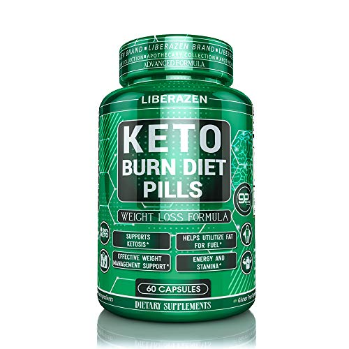 Keto Burn Diet Pills - Advanced Extreme Max Weight Loss Keto Supplements for Ketosis - Perfect and Pure Real Instant Exogenous Ketones For Fuel and Natural Burn - 60 Capsules