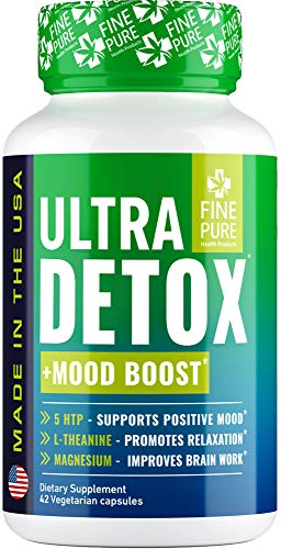 Detox Herbal Supplement - Made in USA - Potent Liver & Urinary Tract Cleanse Supplement for Toxin Removal, Better Mood and Overall Health - Premium Natural & Organic Ingredients - 42 Capsules