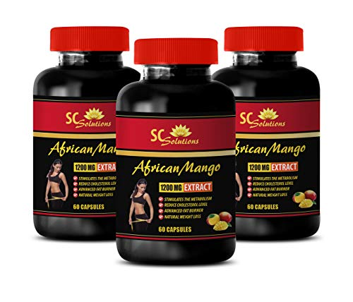Fat Burner and high Blood Pressure - African Mango Extract 1200mg - African Mango Tablets for Weight Loss - 3 Bottles