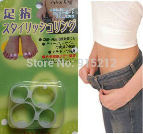 Treading - 2pair New Upgrade Silicon Double Toe Ring Diet Slimming Spa MassageUltra Popular Fitness Slimming Weight Loss