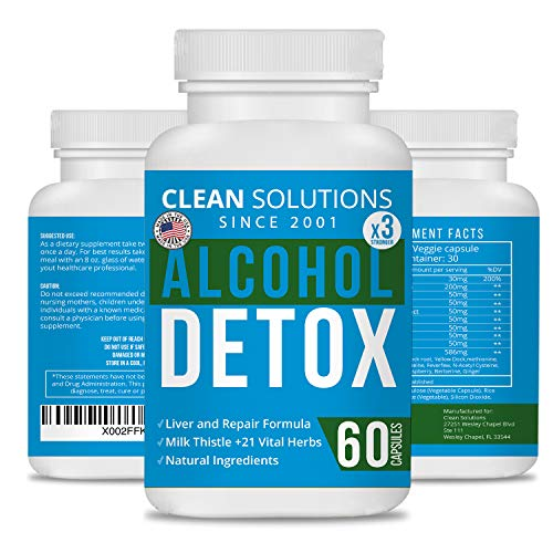 Clean Solutions AlcoholDetox Liver Detox and Cleanse Pills | Hangover Relief and Cure Made in The USA