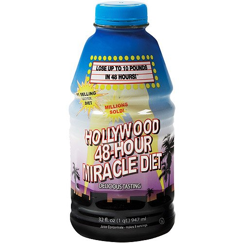 Hollywood 48-Hour Miracle Diet - The Original Juice Cleanse (Pack of 4)