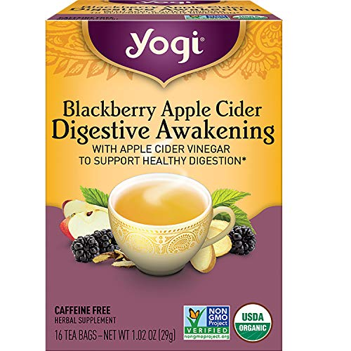 Yogi Tea - Blackberry Apple Cider Digestive Awakening (4 Pack) - Supports Healthy Digestion - 64 Tea Bags