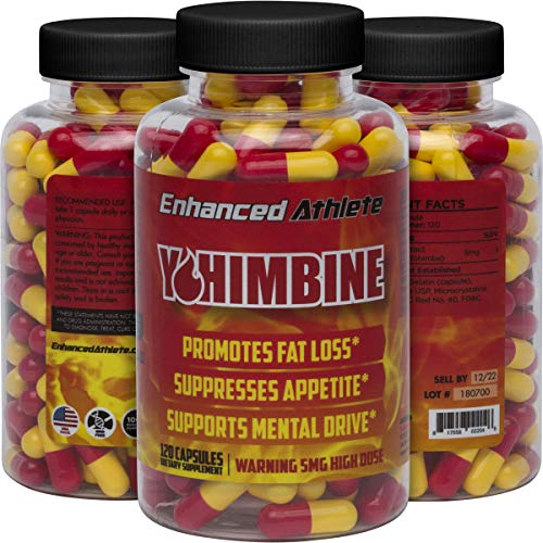 Enhanced Athlete Yohimbine - Weight Loss Support and Improved Athletic Performance - 5mg x 120 Capsules