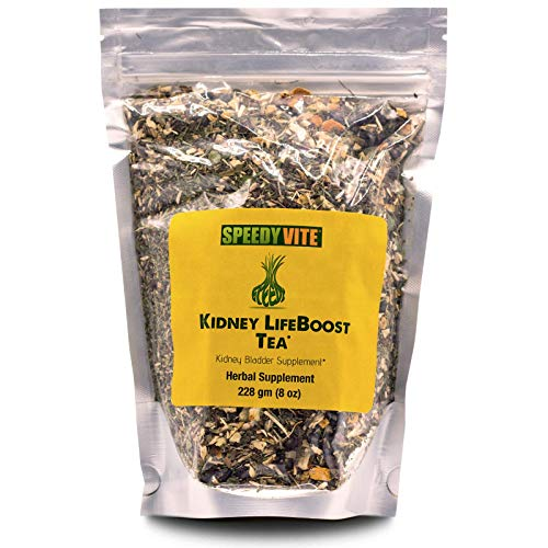 SpeedyVite Kidney Bladder LifeBoost Tea Herbal Supplement Organic Cleanses & supports urinary tract health - Marshmallow root Dandelion leaf Goldenrod Juniper Hydrangea +more Natural Detox