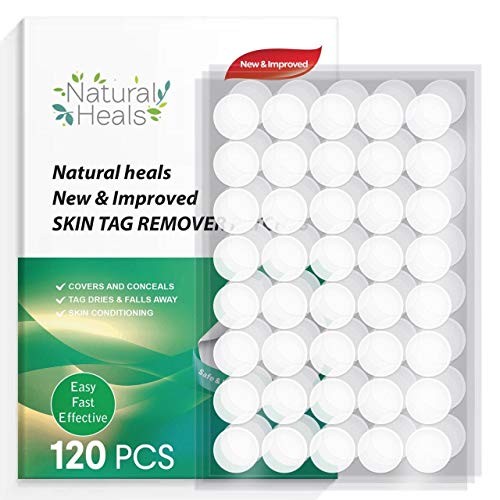 Natural Heals Upgraded Skin Tag Remover Patches (120 Pcs), New and Improved Formula Skin Tag Removal, Tags Dries and Fall Away