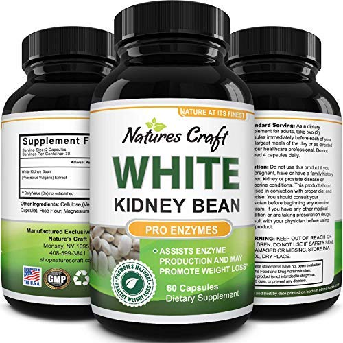 White Kidney Bean Carb Blocker - Natural Appetite Suppressant and Metabolism Booster - White Kidney Bean Extract Keto Pills Natural Supplement for Women and Men