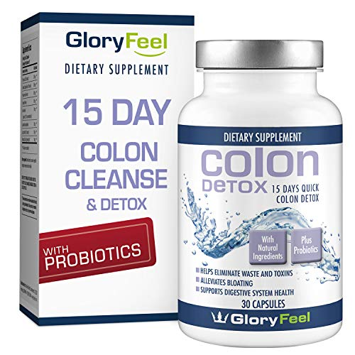 15 Day Extra-Strength Colon Cleanse Detox for Weight Loss with Probiotics - Constipation Relief - Cleanse Supplement for Women and Men