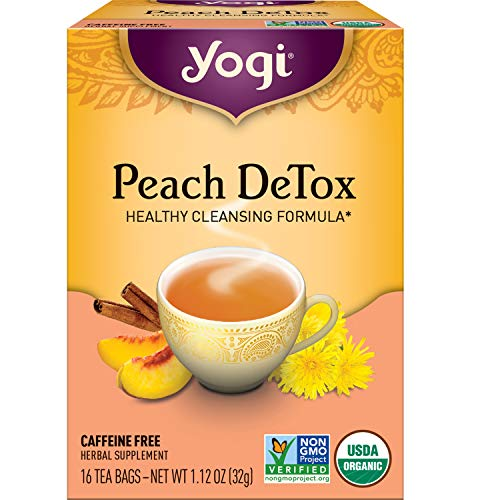 Yogi Tea - Peach DeTox (6 Pack) - Healthy Cleansing Formula - 96 Tea Bags Total