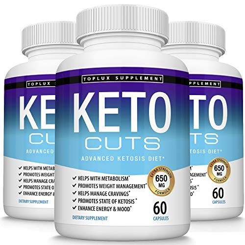 Keto Cuts Pills Ketosis Diet - Utilize Fat for Fuel to Boost Energy & Focus, Manage Cravings, Metabolism Support Using Ketogenic Diet, Keto Diet Pills, Men Women, 60 Capsules, Lux Supplement