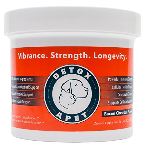 DETOXA-PET Powder, Powerful Nutritional Supplement for Pets, Works Wonders! Dog & Cat Detox, Liver Detox for Dogs, Cats,10 Bill CFU Probiotics, Enzymes, Herbs, Vitamins, Minerals, Immediate Benefits!