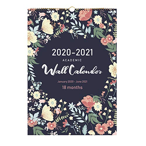 2020 Calendar-18 Monthly Wall Calendar with Thick Paper,Large Wall Calendar 12x17 Inches,Vibrant and Colorful January 2020- June 2021