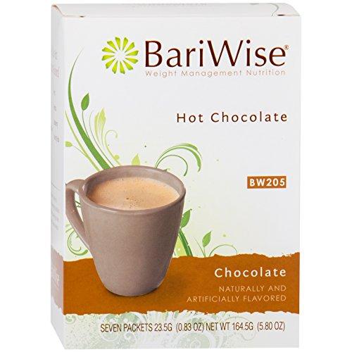 BariWise High Protein Hot Cocoa - Instant Low-Carb, Low Calorie Hot Chocolate Mix with 15g Protein - Chocolate (7 Count)