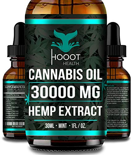 Hemp Oil for Anxiety Relief - 30000 MG - Premium Seed Grade - Natural Hemp Oil for Better Sleep, Mood & Stress - Improve Health - Vitamins & Fatty Acids - Ideal Omega 3, 6 & 9 Source