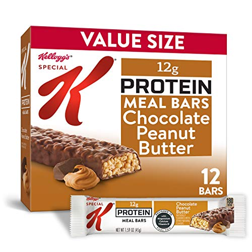 Kellogg's Special K Chocolate Peanut Butter Protein Meal Bars - Office Lunch, Meal Replacement (12 Count)