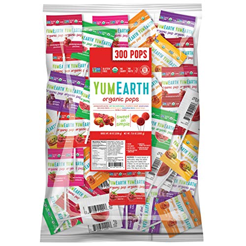 YumEarth Organic Lollipops, Assorted Flavors, 80 Ounce (Pack of 1)