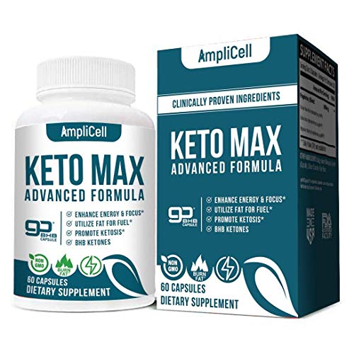 Keto Diet Pills - Utilize Fat for Energy with Ketosis - Boost Energy & Focus, Support Metabolism, Manage Cravings - Keto MAX Supplement for Women and Men - 30 Day Supply…