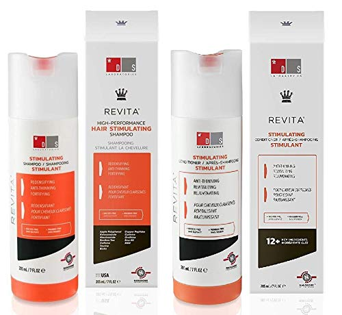 Ds LAB Revita High-Performance Hair Stimulating Shampoo and Conditioner, 7 Ounce / 205 Milliliter