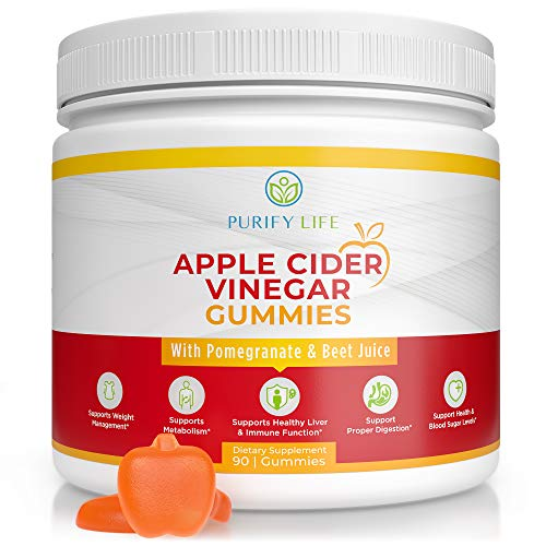 Apple Cider Vinegar Gummies - Unfiltered ACV with The Mother (3 Month Supply) Weight Loss Alternative to Capsules and Pills - Immune System Support, Detox, Metabolism, Acid Reflux - Kids & Adults