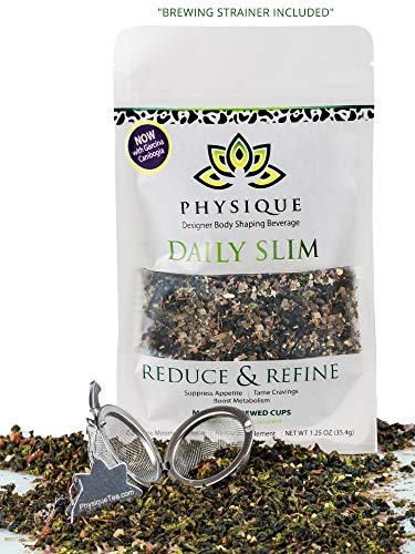 Herbal Weight Loss Cleanse: 15 Day Daily Slim Detox Tea for Natural Weight Loss - Slimming Diet Aid Tea with Appetite Suppressant - Metabolism Booster and Fat Burning Supplement - Strainer Included