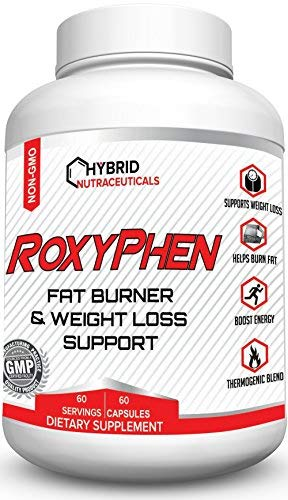 RoxyPhen Fat Burning Pills, Thermogenic Fat Burner Pills with Green Tea, Glucomannan, Maca Root, Weight Loss Support Pills, Appetite Suppressant, Energy, Metabolism Booster, Fat Blocker, Carb Blocker
