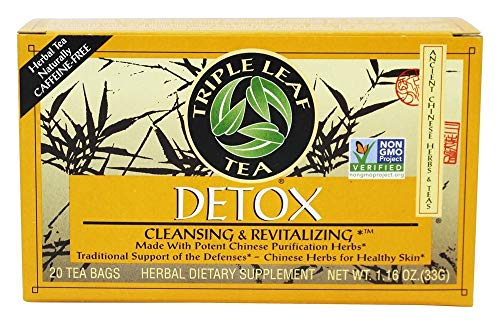 Triple Leaf Tea Natural Herbal Tea, Detox 20 bags (Pack of 2)