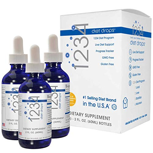Creative Bioscience 1234 Diet Drops (3 Pack) - Weight Loss Drops - Original Amino Complex - Keto Diet - Intermitted Fasting - 1234 Diet Plan, 2 Fl Oz (3 Pack)