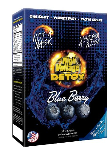 High Voltage Detox Drink 32oz Blue Berry