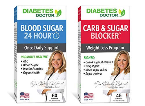 Diabetes Doctor A1C Bundle Pack - 24 Hour Daily Support & Mealtime Carb & Sugar Defense - Insulin & Weight Loss Support - 1 Month Supply
