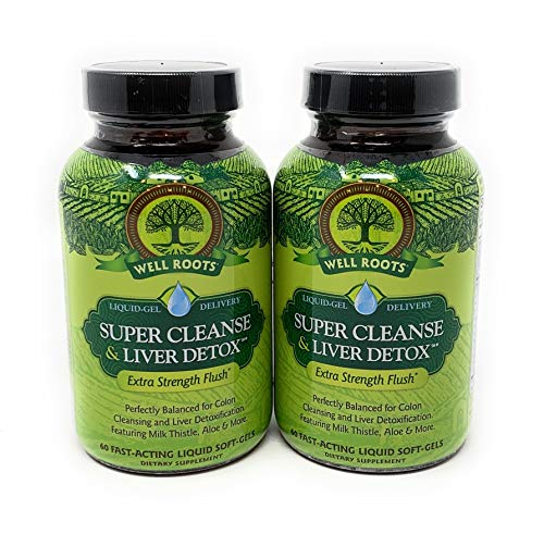 Well Roots Colon Cleanse and Liver Detox, 2 Bottles, Total of 120 Liquid Softgels