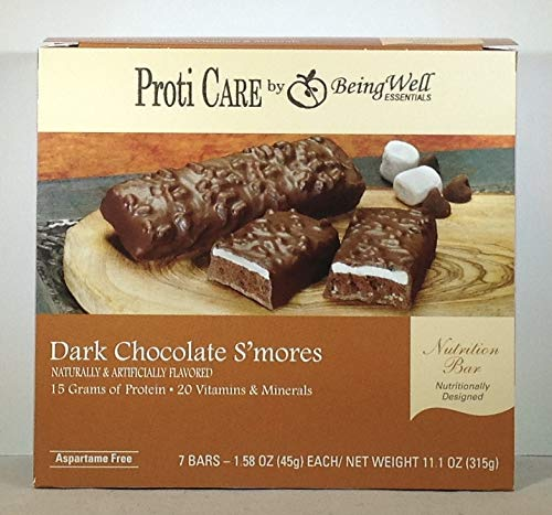 Proti Care Protein Bars - 15grams Protein - 7 Servings (Dark Chocolate S'Mores)