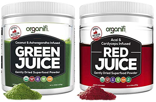 Organifi: Green Juice & Red Juice Bundle - 30 Day Supply - Superfood Supplement Powder - Boosts Metabolism - Detox and Revitalize - Anti-Aging Properties - Immunity Support