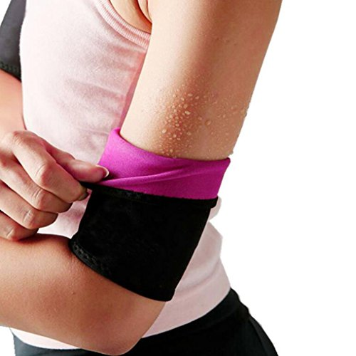 GUDESKY Arm Trimmers Wraps for Slimmer Arms-Lose Fat & Reduce Cellulite-Heat Maximizing Neoprene Armbands (Pair) for Women and Men,Black