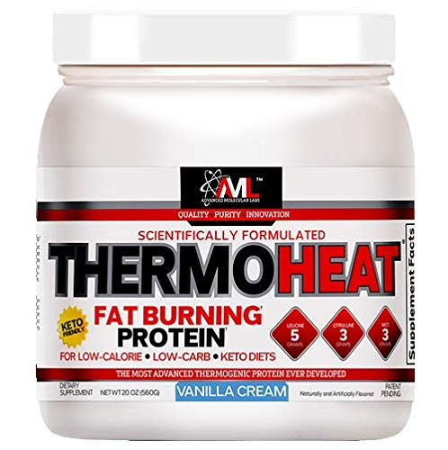 Advanced Molecular Labs - Thermo Heat Protein, Fat Burning Protein, for Low-Calorie & Low-Carb Keto Diets, Vanilla Cream, 20 oz