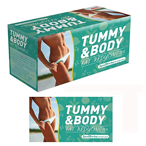 Flat Belly Tea Cleanse Activate Detox Tea Bags, Laxative Skinny Fit Detox Tea for Weight Loss and Belly Fat Caffeine Free, Organic Natural Herbal Slimming Detox Tea for Bloating