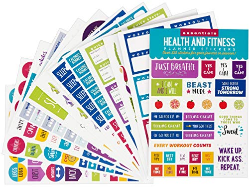 Essentials Health & Fitness Planner Stickers (Set of 325 Stickers)