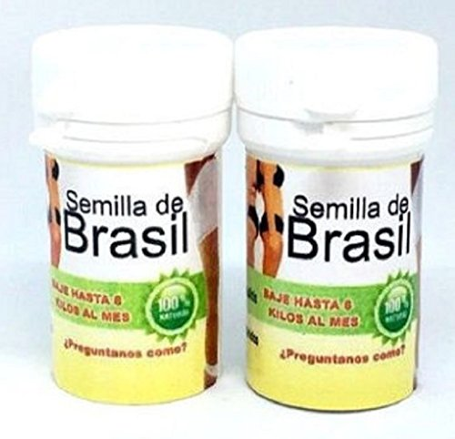 2 Pack Semilla de Brasil Seed Original Brazilian Natural Weight Loss 60 Seeds For 60 day