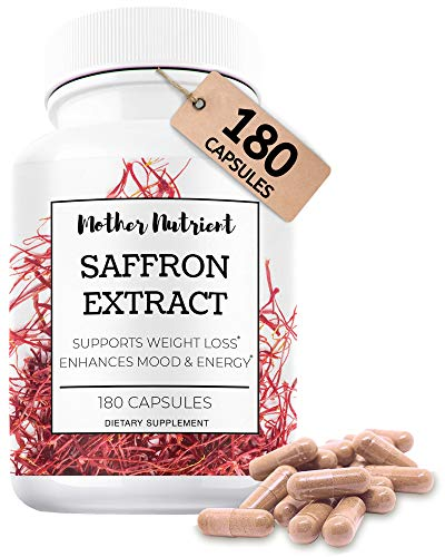 Saffron Capsules with 88.50 mg of Saffron Extract. Supplement Contains 180 Capsules. Powerful Antioxidant Provides Mood Boost, Heart and Eye Health Support. High Quality Crocus Sativus Plant Extract.