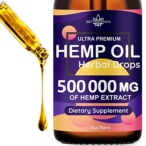 Hemp Oil Extract 500 000mg, Immune System Support, For Pain, Insomnia, Stress, Anxiety Relief, Natural Dietary Supplement, Premium Quality, Improve Health, Provides Relaxation, Deep Sleep, Mood Boost