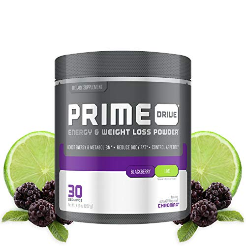 Complete Nutrition Prime Drive Energy & Weight Loss Powder, BlackBerry Lime, Increase Energy, Boost Metabolism, Fat Burner, Appetite Suppressant, 9.95oz (30 Servings)