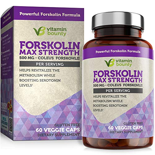 Forskolin - Non GMO, Gluten Free & Made in USA - Coleus Forskohlii Extract 60ct