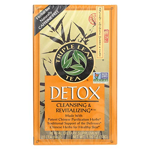 Triple Leaf Tea, Detox, 20 Tea Bags (Pack of 6)