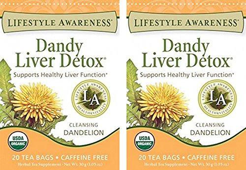 Lifestyle Awareness, Dandy Liver Detox w/ Cleansing Dandelion, Caffeine Free, Organic, 20 Count / 2 Pack