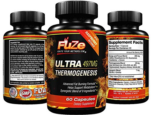 FUZE Thermogenic Ultra Keto Fat Burner Weight Loss Diet Pills and Supplement Will Ignite Your Metabolism, Ramp Up Your Energy and Melt Stubborn Fat Fast!