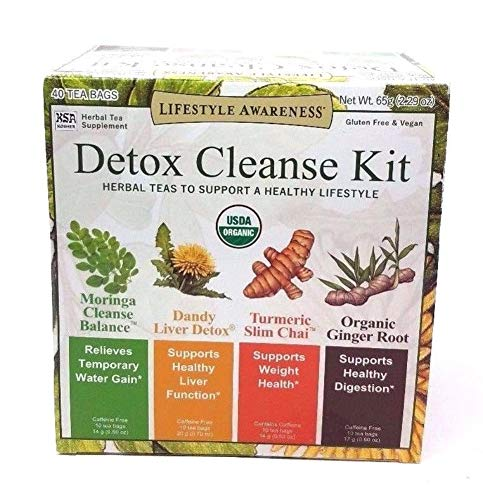 Lifestyle Awareness Detox Cleanse Kit, Herbal Teas to Support a Healthy Lifestyle 40 teabags