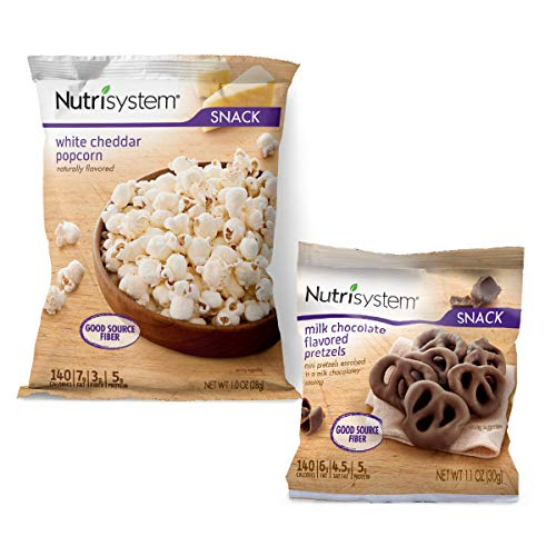 Nutrisystem Movie Night Snack Pack, 10 ct, Chocolate Covered Pretzels and White Cheddar Popcorn