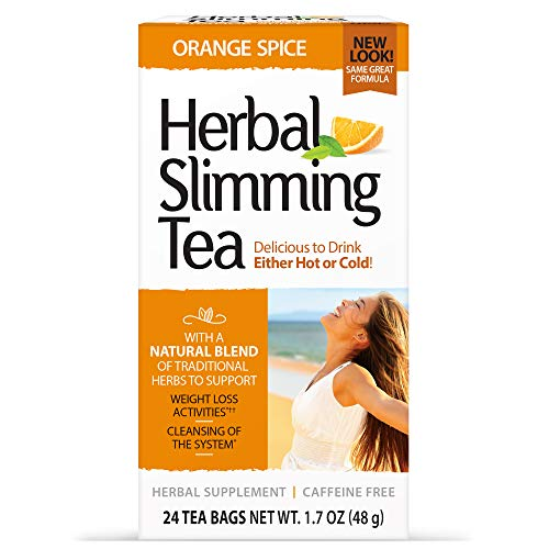 21st Century Slimming Tea, Orange Spice, 1.6 Ounce, 24 Count