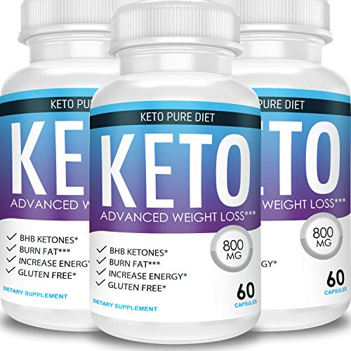 Keto Pure Diet - Advanced Weight Loss - Ketosis Supplement (3 Month Supply)